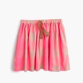 J.Crew Skirt in neon buffalo check