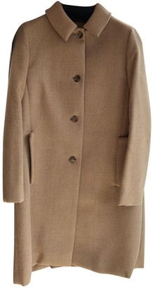 Miu Miu Camel Wool Coat for Women