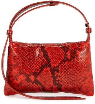 Simon Miller Puffin mini snake-effect leather top handle bag