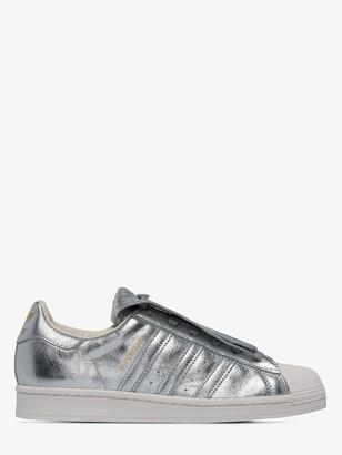 adidas Superstar metallic low-top sneakers