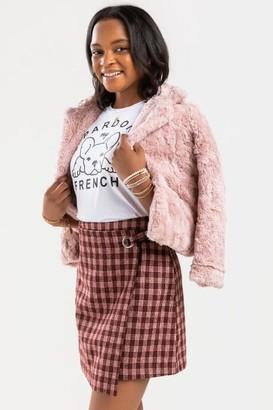 francesca's franki Plaid Mini Skirt - Brown