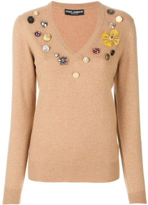 Dolce & Gabbana Flower Patch Jumper