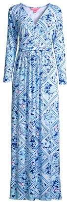 Lilly Pulitzer Nichola Diamond Floral Maxi Dress