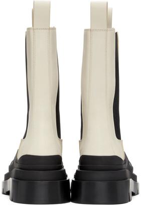Bottega Veneta Off-White & Black 'The Tire' Boots