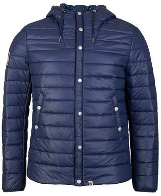 Pretty Green Donlan Quilted Jacket Colour: NAVY, Size: SMALL