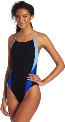 Speedo Women's Launch Splice Cross Back Endurance Swimsuit