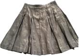 Burberry Gold Linen Skirt