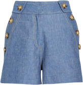 Derek Lam 10 Crosby High Rise Cotton-Linen Shorts