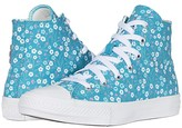 Converse Chuck Taylor(r) All Star(r) Floral (Little Kid/Big Kid) (White/Topaz Gold/Peony Pink) Girl's Shoes