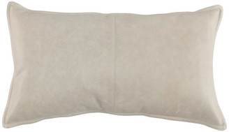 """Kosas Cheyenne 100% Leather 14""""x26"""" Throw Pillow by Home, Gray"""