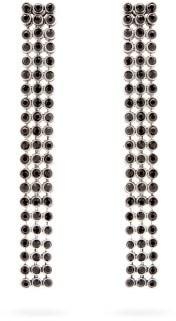 Etro Crystal Mesh Earrings - Black