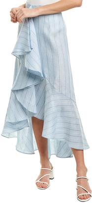 Petersyn Ciara Linen Midi Skirt