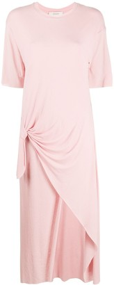Áeron knot detail midi T-shirt dress