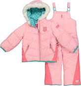London Fog Coral Puffer Jacket & Bib Pants - Infant, Toddler & Girls