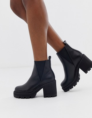 Truffle Collection chunky chelsea boots in black