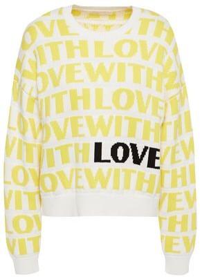 Maje Monty Intarsia-knit Sweater