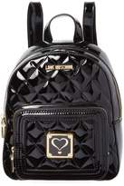 Love Moschino Women's Varnished Quilted Backpack