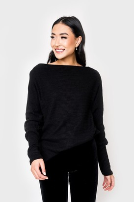 Gibson Slouchy Luxe Off Shoulder Sweater