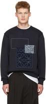 Loewe Indigo Anagram Patches Pullover