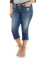 Silver Jeans Co. Plus Suki Cuff Capri