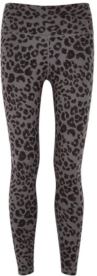 Varley Century Cheetah-print Cropped Leggings