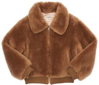 Yves Salomon Enfant Wool Zip Jacket