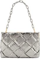 Nancy Gonzalez Small Woven Frame Clutch Bag