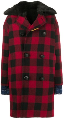 DSQUARED2 Double-Breasted Checked Coat