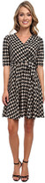 Christin Michaels Tanagers Houndstooth Wrap Dress