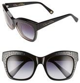 Oscar de la Renta Women's '214' 53Mm Sunglasses - Black