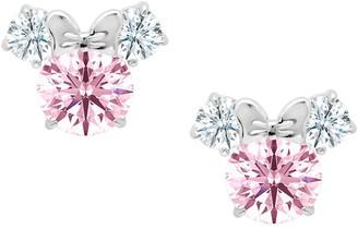 Disney Minnie Mouse Earrings for Kids by CRISLU Pink