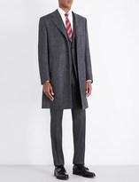 Canali Herringbone regular-fit wool coat