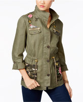 INC International Concepts Linen Embellished Utility Jacket, Only at Macy's