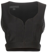 Burberry Cotton And Silk-blend Bustier Top