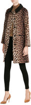 Moschino Leopard Print Wool Coat