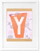 Jonathan Adler Trey Speegle Letter Series - Peach Y