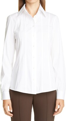 Lafayette 148 New York Abbott Stretch Poplin Shirt