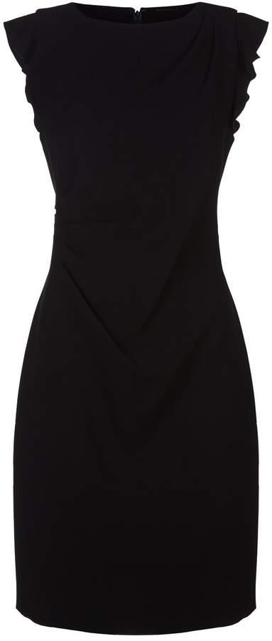 Elie Tahari Elsie Ruffle Cap Sleeve Dress