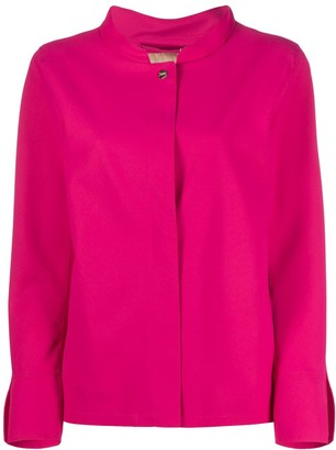 Herno Mandarin-Collar Buttoned Jacket