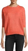 Manoush Women's Cotton Pointelle Sweater