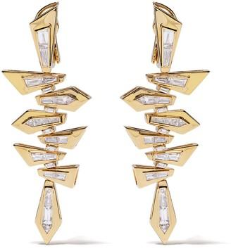 Stephen Webster 18kt yellow gold Dynamite Shattered diamond short earrings
