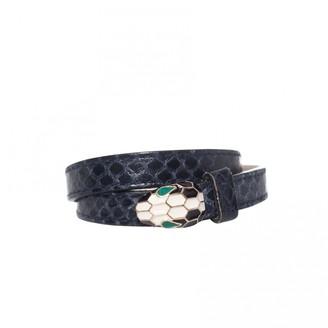 Bvlgari Serpenti Blue Leather Bracelets