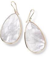 Ippolita 18k Rock Candy Large Teardrop Earrings in Clear Quartz