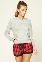 Forever 21 FOREVER 21+ Plaid Lace-Trimmed PJ Shorts