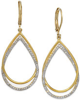 Townsend Victoria Diamond Teardrop Earrings in 18k Gold over Sterling Silver (1/4 ct. t.w.)