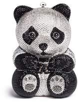 Judith Leiber Panda crystal pavé minaudière