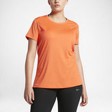 Nike Dry Miler Women's Short Sleeve Running Top (Plus Size)