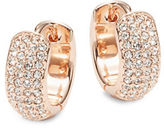 Nadri Rose Goldtone Pave Huggie Hoop Earrings