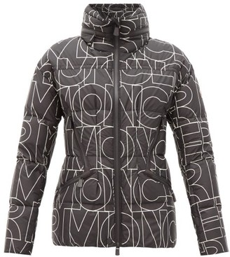 MONCLER GRENOBLE Dixence Logo-print Quilted Down Jacket - Black White