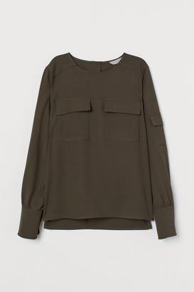 H&M Wool-blend Utility Blouse